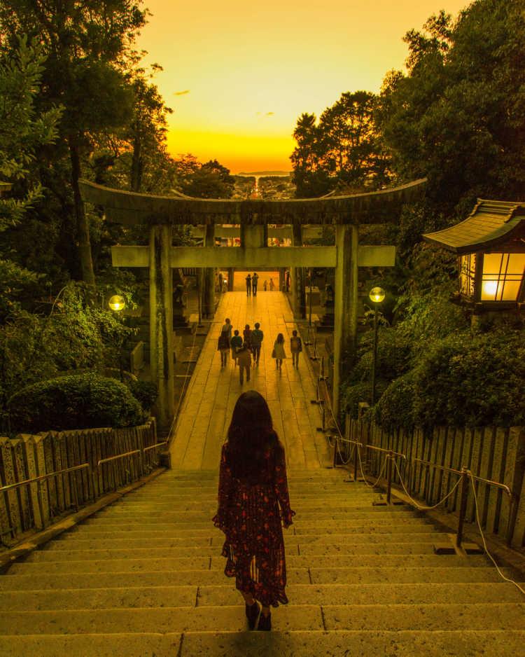 2月と10月にしか見られない光の道   宮地嶽神社の口コミ