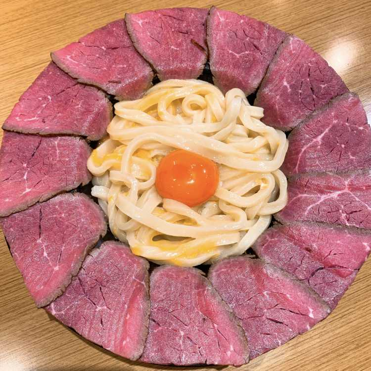 Delicious! Udon Noodle With Egg, Encircled In Roast Beef | Review of Maruyoshi Seimenjo