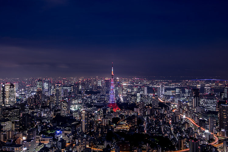 Art By The Name Of City.  Night View Of Tokyo Seen From The Highest Observatory In Japan | Review of Roppongi Hills Observatory (Tokyo City View & Sky Deck)